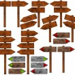 Set of Directional Wooden Signs with Pole — Stock Photo #75781347