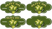 Collection of Olive Oil Labels — Stock Photo