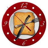Breakfast Time Concept - Clock — Stock Photo