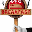 Bed and Breakfast - Sign with Hand of a Concierge — Stock Photo #78540986