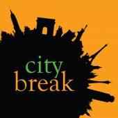 City break color vector — Stock Vector