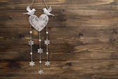 Decoration on wood texture — Stock Photo