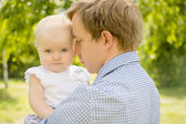 Daughter with father — Stock Photo