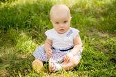Child on grass — Stock Photo