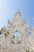 Wat Rong Khun, Thailand berühmten Tempel nach Erdbeben — Stockfoto