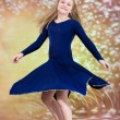 Teen girl in blue dance costume — Stock Photo #64377293