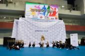 Минск - Май 02: Неизвестные дети соревнуются в Springcup международном конкурсе танца, 02 мая 2015 года, в Минске, Беларусь. — Стоковое фото