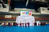 MINSK - MAY 02: Unidentified children compete in the SpringCup international dance competition, on May 02, 2015, in Minsk, Belarus. — Stockfoto