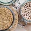 Brown rice and chickpeas — Stock Photo #62469455