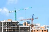 Gru e costruzione sito — Foto Stock