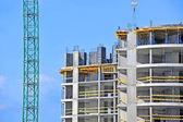 Crane and construction site — Stock Photo