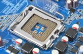 Computer motherboard, CPU socket, DOF — Stockfoto