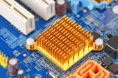 Computer motherboard, DOF — Stock Photo