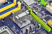 Computer motherboard, DOF — Stock Photo