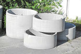 Concrete circle pit — Stock Photo