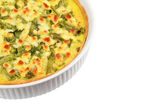Pie with cheese, asparagus and herbs — Stock Photo