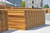Placa de madeira para terraço — Fotografia Stock