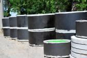 Concrete circle pit — Stock Photo