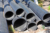 Stacked PVC pipe — Stock Photo
