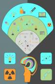 Flat vector set for science — Stock Vector