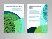 Abstract blue and green Brochure Flyer design vector template in A4 size. Eco, biology, beauty and medicine concept. — Stock Vector