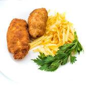 Kyckling Kiev med rostad potatis 2 — Stockfoto