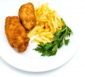 Kyckling Kiev med rostad potatis 3 — Stockfoto
