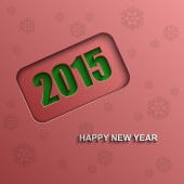 Happy new year 2015 vector background — Stock Vector