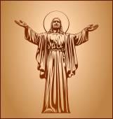 Jesus Christ, blessing, Christianity — Stock Vector