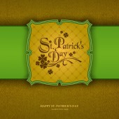 Paper St. Patrick's day background, — Stock Vector