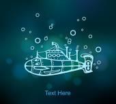 Submarine abstract, stylization — Stock Vector