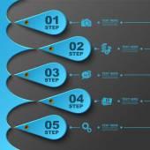 Business 3D digital Infographics — Stock Vector