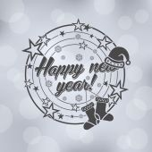 Happy New Year Lettering Design — Stock Vector
