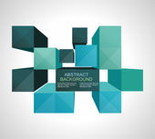 Colorful 3d Cubes background - Vector Design Concept — Stock Vector