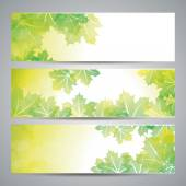 Nature background with green fresh leaves — Stock Vector