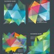 The abstract geometric 3D background. Vector illustration. — Vettoriale Stock