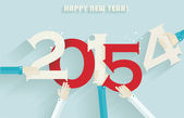 Happy new year 2015 creative greeting card design  — Stock Vector