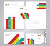 企业标识模板颜色元素. — 图库矢量图片
