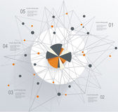 Abstract Mesh Background with circle infographics — Cтоковый вектор
