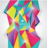 Abstract geometrical background, polygonal design — Stock Vector