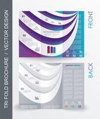 Tri fold business brochure template — Stock Vector