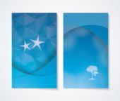 Banner set with blue background. — Stock Vector