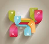 Modern minimalistic infographics banner. — Stock Vector