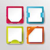 Modern banners or frames element design — Stock Vector