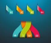 Modern origami style number options banner. — Vector de stock