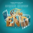 Vintage movie ending screen — Stock Vector #65534035
