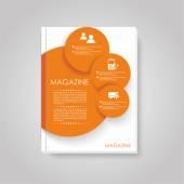 Vector brochure template design with circles elements. — Cтоковый вектор