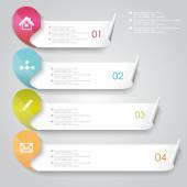 Vector options or progress banners with colorful tags. — Stock Vector