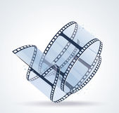 Twisted film for photo or video — 图库矢量图片