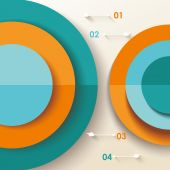 3D Infographic diagram — Stock Vector